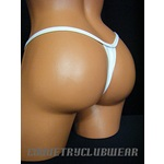 "Vinyl Wet Shine WHITE Thong 30""-38"""
