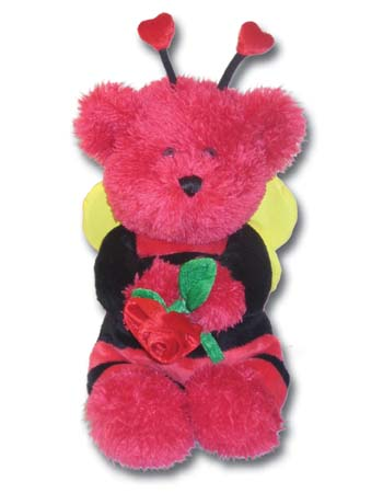 "175V - Wholesale Valentine Bears - 10"" Valentine Bee Bear"