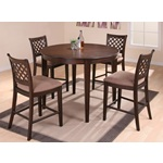 5PC Bali Espresso Counter Height Dining Table Set