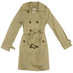 BB Dakota Double Breasted Trench Coat - Khaki