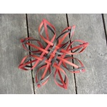 Amish Handwoven Unique Snowflake Ornament