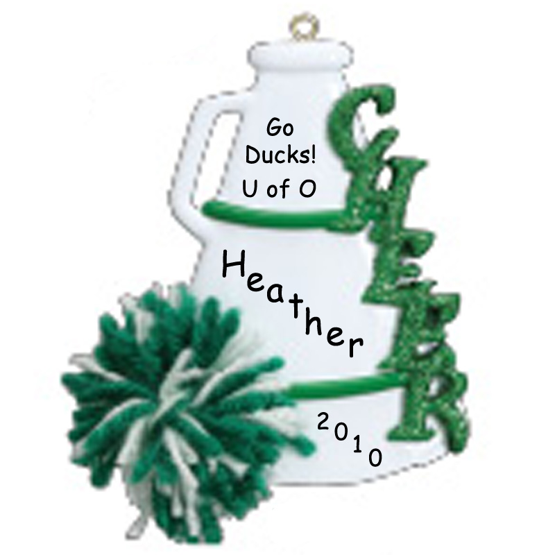 Cheerleader ornaments