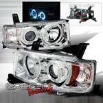 Spec D Dual Halo Projector Headlights (Chrome): Scion xB 2004 - 2006