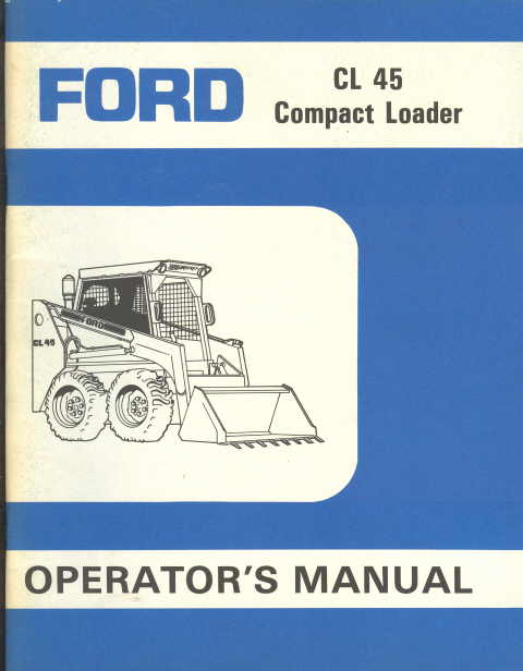 Other Repair Manuals & Literature Ford CL35-CL45 Skid Steer ...