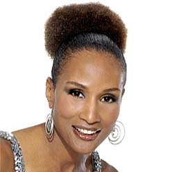 Beverly Johnson afro puff