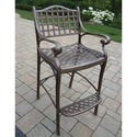Oakland Living Elite Cast Aluminium Bar Stool In Lattice Pattern (361268)