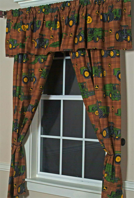John Deere Curtains, John Deere Decor, John Deere Valance