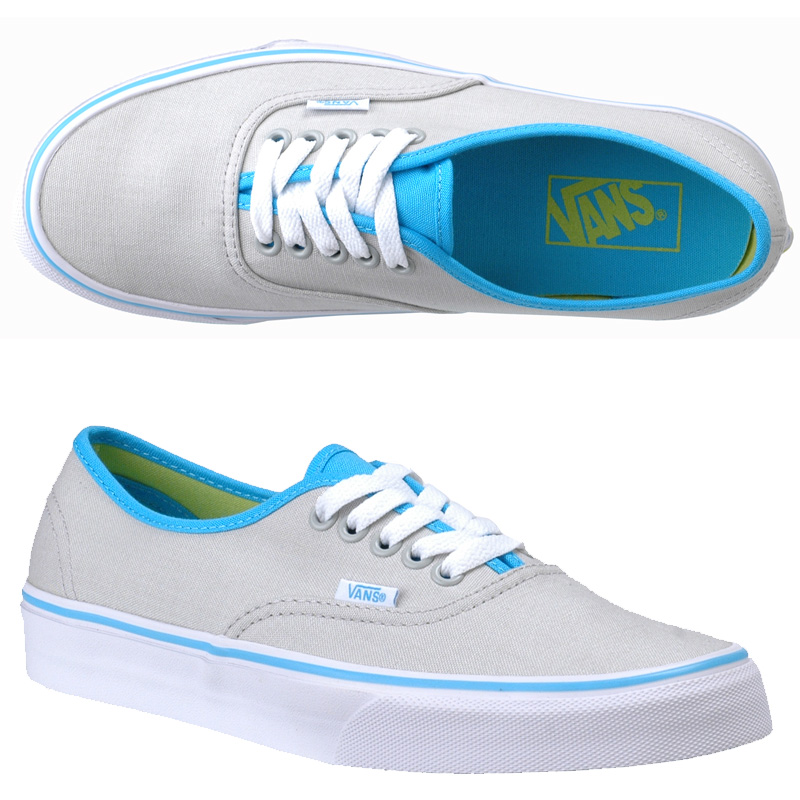 Vans Womens Authentic Pearl Gray/Blue Atoll/Limeade