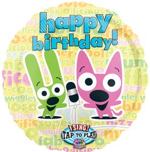 Birthday cards ideas birthday card yoyo and hoops singing hoops and yoyo birthday foil balloon monsterm bookmarktalkfo Images