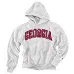UGA Georgia Bulldogs Champion Men's Silver Reverse Weave Hoody Sweatshirt