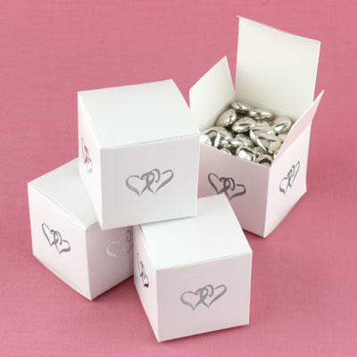 Wedding Party Decorations on Heart White Party Favor Boxes   Wedding Party Favors   Decorations
