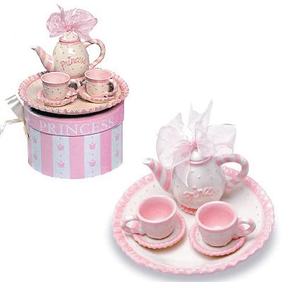 9b03ac9f3c7f Clothing on Mud Pie Princess Tea Set With Bow Lullaby Lu Monstermarketplace