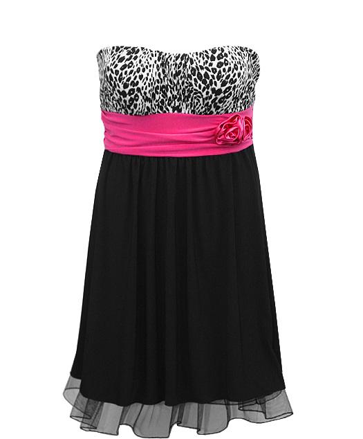 Zebra Plus Size Prom Dresses 14