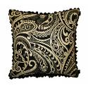 JAR Designs 'Paisley Black' Throw Pillow (20 Inch Polyester)