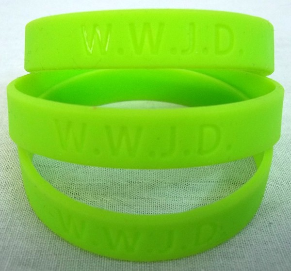 WWJD BRACELETS WHOLESALE 100 - WRISTBANDS | BUY CUSTOM RUBBER