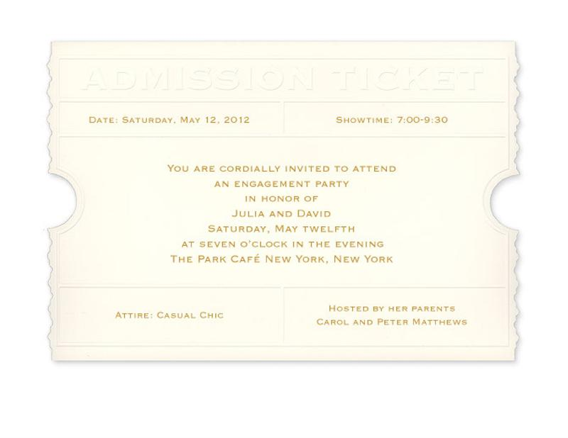 Party Invitations Admission