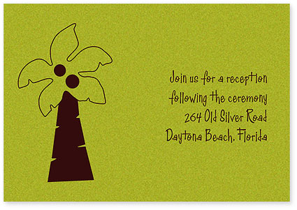 Personalized Reception Cards Fun Palm Enlarge Image