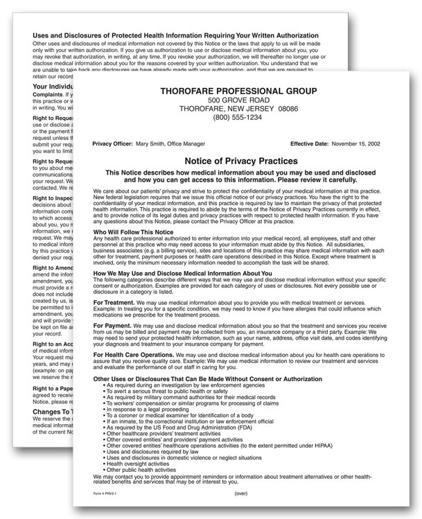 Notice Of Privacy Practices Template FFInfo