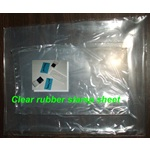 "6 x 9"" Clear Rubber Sheet"