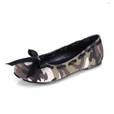 Camouflage Ballet Flats Shoes
