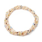 5x1 Row Cream Pearl Necklace