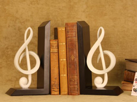 Music bookends image search results - Treble clef bookends ...