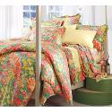 Sateen Pulcinella Flat Sheet - Full, Multi Floral