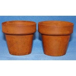 "TWR5303 2 Rusty Tin Flower Pots 1.25"" High **Discontinued Item--Limited Supply"