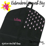 Horizon Dance Bags--BALLET SHOES EMBROIDERED GARMENT BAG--can be personalized--#0440