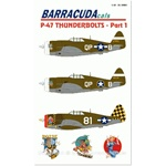 P-47 Thunderbolt Pt.1 for TAM & HSG 1-48 Barracuda Decals
