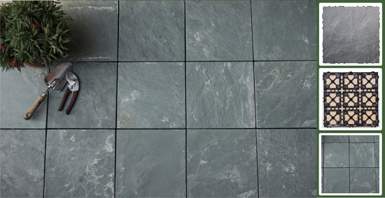 Interlocking Outdoor Patio Slate Tile