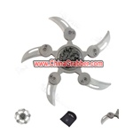 Foldable Throwing Stars - Round Style 5-Blade Knife Ninja Star - Ninja-K100