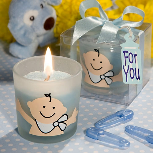baby boy shower candle favors baby boy shower candle favors