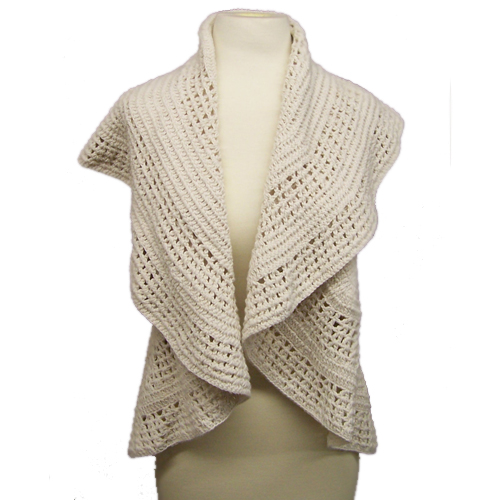 Free Knitting Pattern Central Vest : CROCHET PATTERNS FOR WOMEN S PLUS CLOTHING - Crochet Club