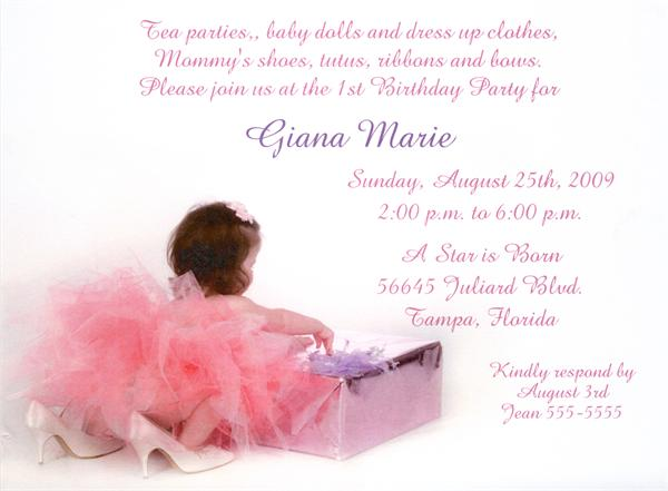 birthday party invites for girls. All Dressed Up Birthday Party