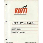 Kioti KL102 Loader operator and parts