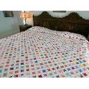 96 X 103 Cathedral Window Queen Spreadking Coverlet Handmade Quilt