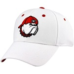 UGA White Top Of The World Flex Cap