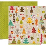 Crate Paper SNOW DAY 12x12 Cardstock Sheet - Festive **CLEARANCE