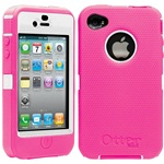 OtterBox Defender Series Case For iPhone 4 and 4S, Pink and White