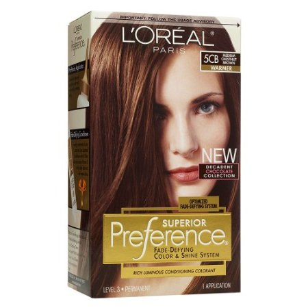 Loreal Preference Hair Color - Medium Chestnut Brown 5cb by L'Oreal ...