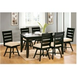 "40"" x 60"" Jaffie Cappuccino Dining Table and Swivel Chairs"