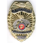 USMC MILITARY POLICE BADGES - NEW STYLE w/ ENGRAVING