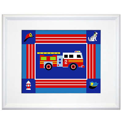 Fire Truck  Sheets on Heroes   Ladder Fire Truck Framed Art   Monstermarketplace Com