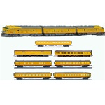 LIONEL #24552 UNION PACIFIC DIESEL LOCOMOTIVE #25441 UP CITY OF DENVER STATIONSOUNDS CAR #25433 4 PASSENGER CARS #25438 2 PASSENGER CARS