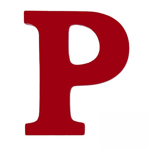 """Red Letter P Wooden letter """"p"""" - red Y Graffiti Letters"""