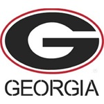 UGA Georgia Bulldogs Large Oval G and GEORGIA Stencils