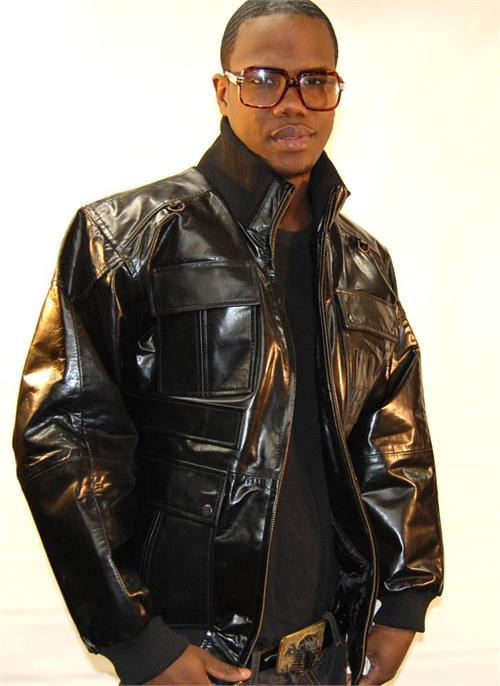 Shiny 4 Pocket Mens Black Leather Jacket   MonsterMarketplace.com