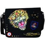 ED HARDY EB03LEETIG BLK LEE TIGER BLACK MESSENGER BAG