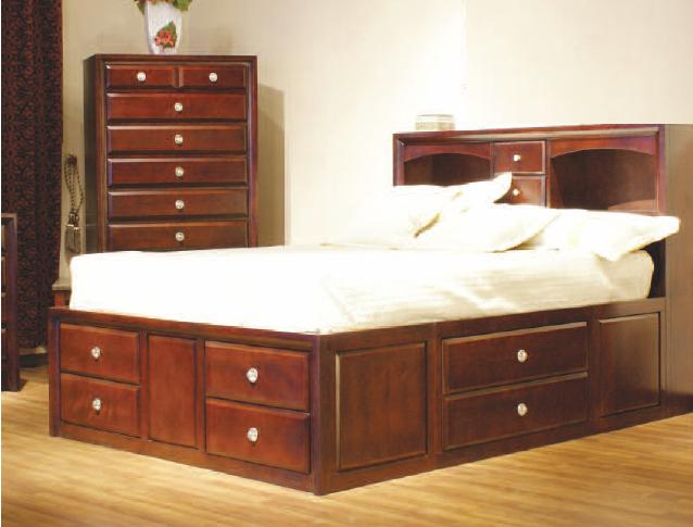 Woodworking platform bed with storage drawers plans PDF Free Download